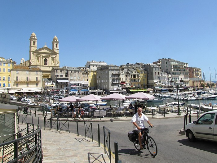 The marina of Bastia