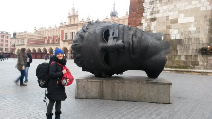 Giant Head Sculpture, Eros Bound at Rynek Glowny