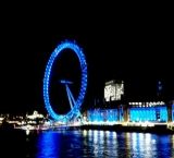 The London Eye during the night