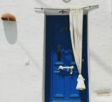 Greek doors are always aesthetics. Paros