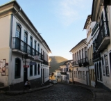 One of numerous cobblestone streets