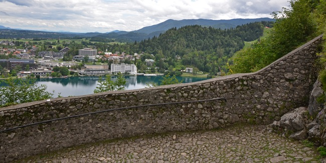 View from the Bled castle