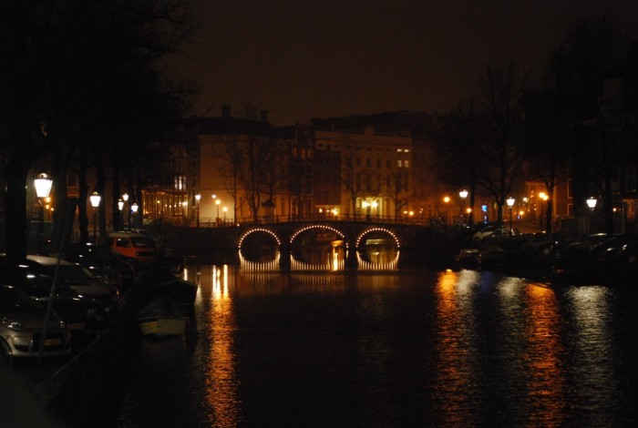 Amsterdam during the night