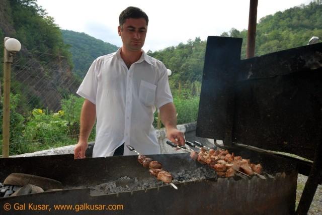 Shashlic (chicken skewers)