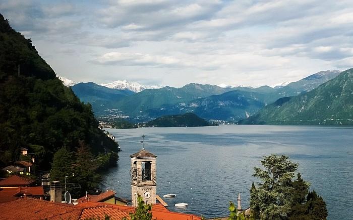 Lake Como Italy during the spring