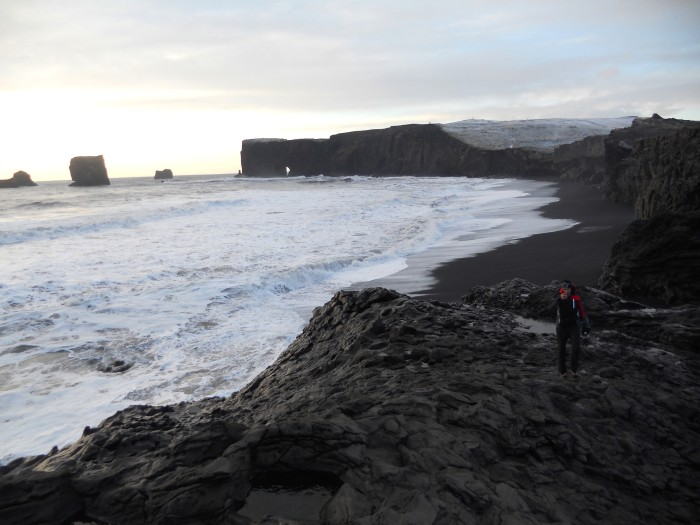 Volcanic beach (it is not black-white technique)
