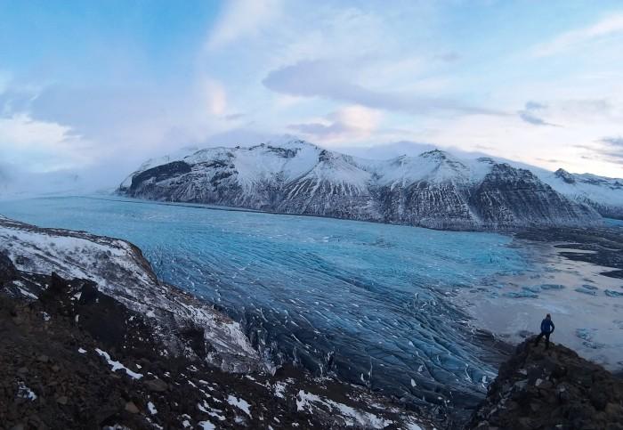 glacier tongue of vatnajokull glacier cap