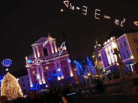 Christmas decorations of Ljubljana