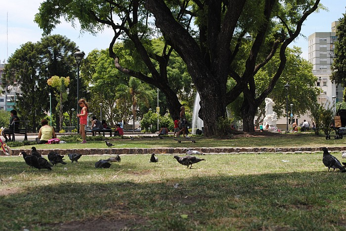 one of numerous parks in the city