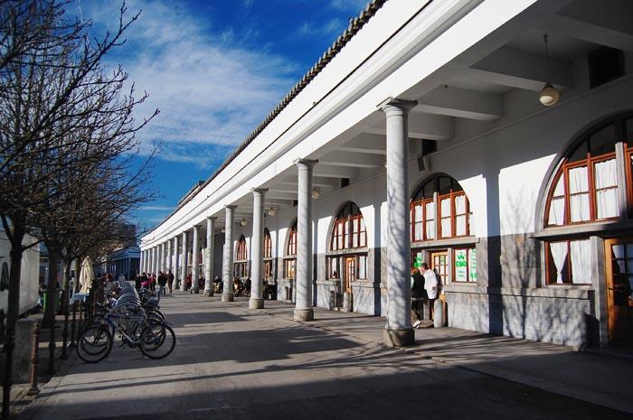 Jože Plečnik's colonnade in the Ljubljana Central Market