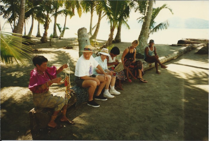 Visiting a family at Isla Gunboat, San Blas Islands