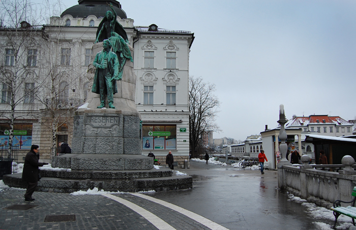 What to see in Ljubljana: The statue of France Prešeren