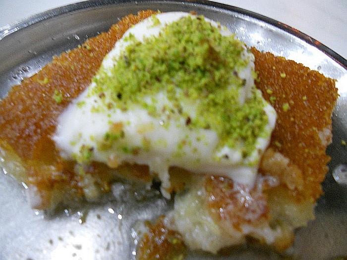 Küefe with ice cream and pistachio