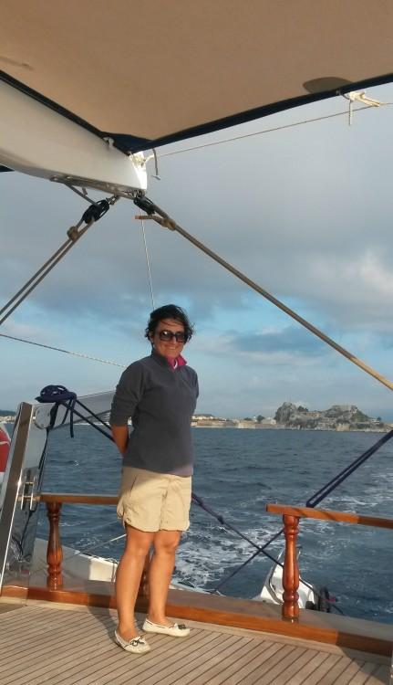 Me. Leaving Corfu (Kerkyra) behind, September 2014.