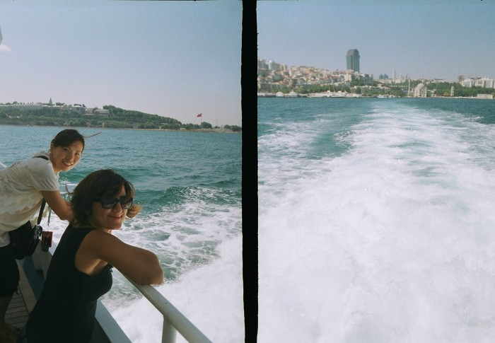 Yuko and I, at a ferry in İstanbul, August 2011