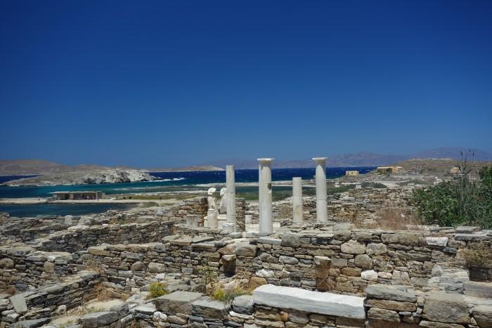 World Heritage site, Delos Island. June 2014