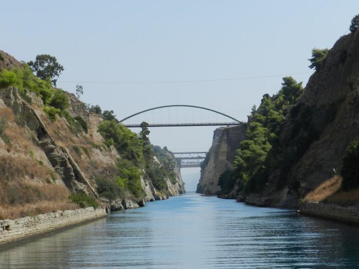Corinth Channel, Corinth Greece (July-September 2014)