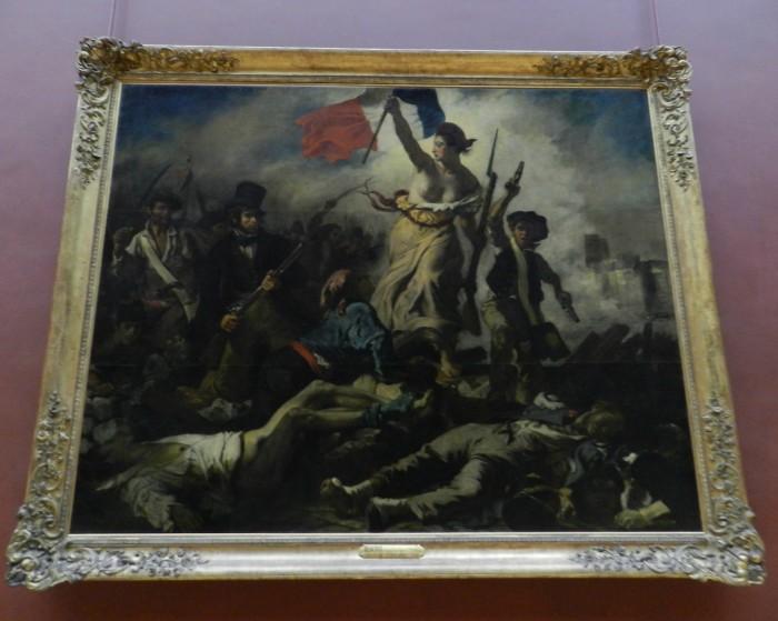 Lİberty Leading the People 1830 (La Liberte Guidant Le Peuple) Eugene Delacroix, at Louvre Museum