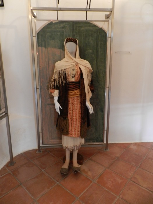 Local dress of women in the museum of the former mosque