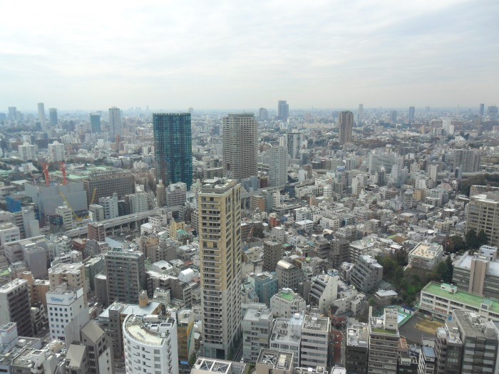 The view of Tokyo city from Tokyo Tower, 24 March 2011