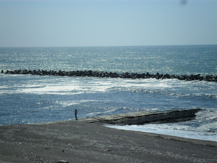 View of the Nihon-kai, Sea of Japan in Niigata Prefecture. April 2011