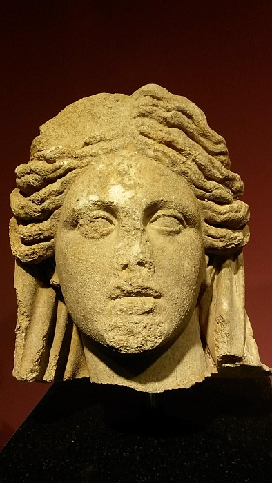 Woman Sculpture Head, Roman Period, 2nd Century A.D, found in Telmessos Theatre. Fethiye Archeological Museum