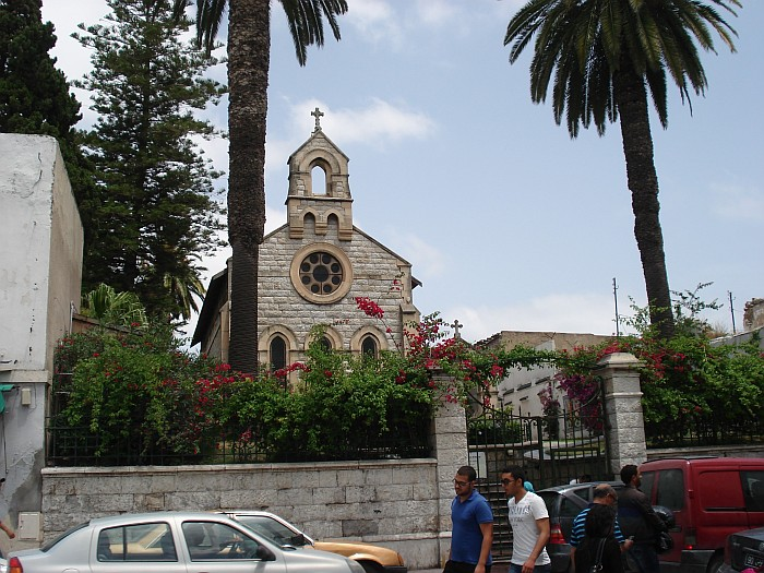 despite the fact that is Muslim country they respect others. So here is a Catholic church.