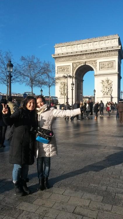 Arc de triomphe de l'Étoile, Arc of Triumph. with my friend Yuko