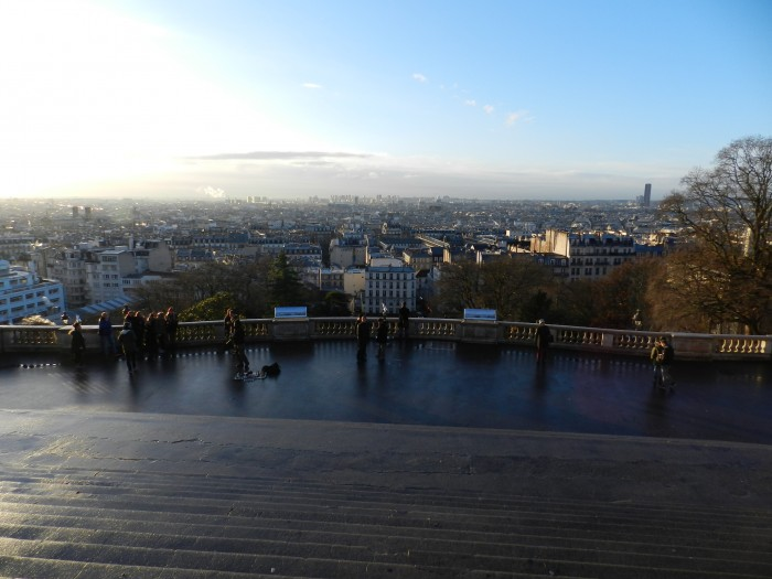 View of Paris from Montmarte early in the morning.