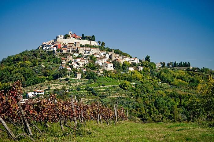 Small, yet beautiful town of Motovun - Istria Croatia