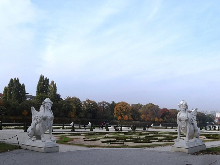 The Gardens of Belvedere Palace Vienna