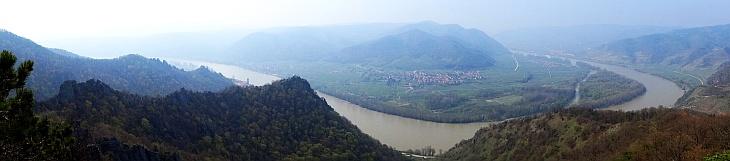 Panorama of the Wachau valley