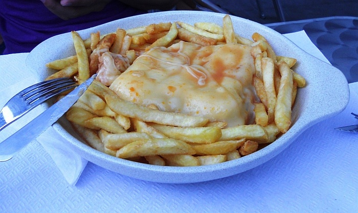 "Typical food called ""francesinha"""