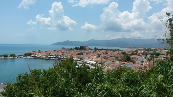 View of Pythagoreion, Samos from uphill