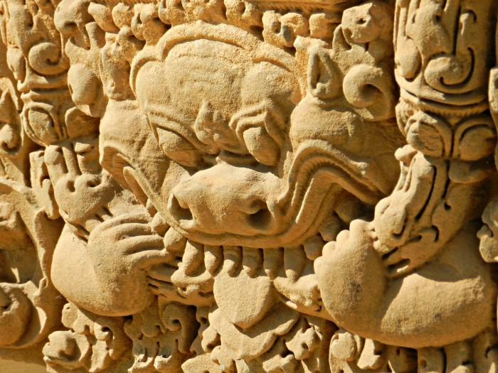 Lintel, Angkorian Style, Battambang Museum