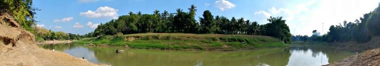 Panoramic view of Sangkae River, Wat Kor Village, Battambang City