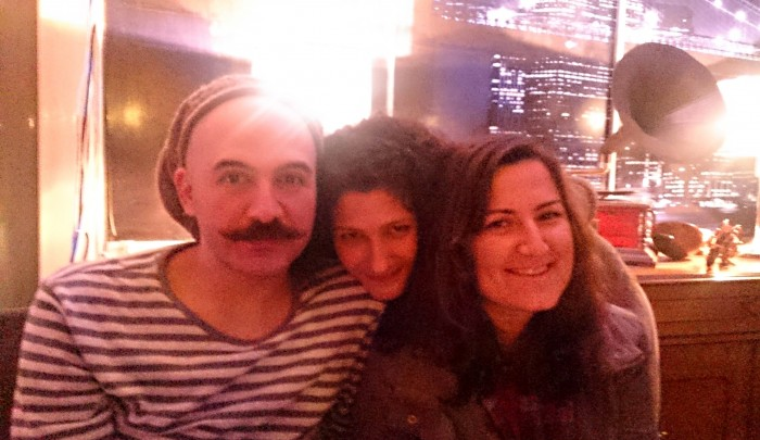 Burak,on the left and Sedef, in the middle. We met again in Adana, where they live, years after Ankara, at 6.5 Cafe