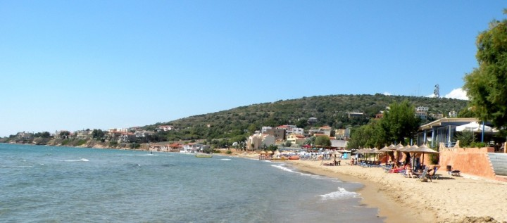 The Karfas beach – the longest beach at the Island
