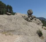 Rolling stone on the path to Piscia di Gallo