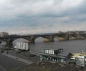 View of Elbe River in Dresden