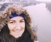 me looking at the view of Vltava River from Vyšehrad :)
