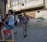 Life in the street, just some steps away from new President Palace in Tbilisi