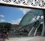 """Peace bridge in Tbilisi; locals call it """"Always"""" bridge"""