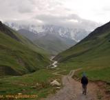 Trekking to the Shkhara glacier, Ushguli