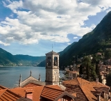 The towns around Lake Como Italy are quite compact