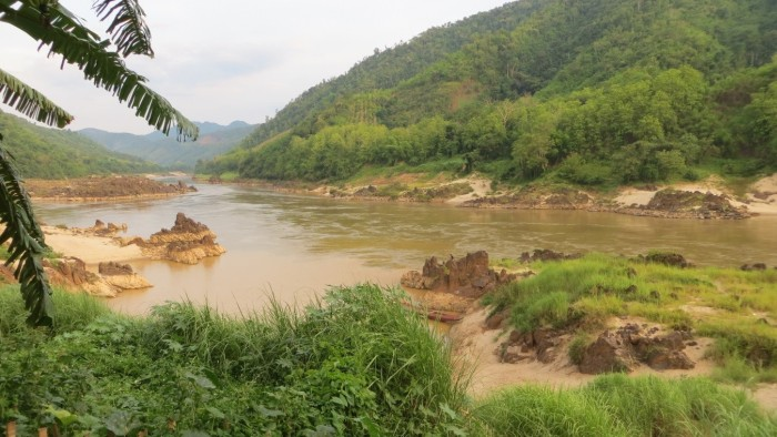 View over the Mekong river from Pakbang town
