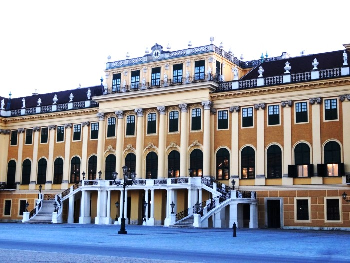 Detail of Schonbrunn Palace Vienna