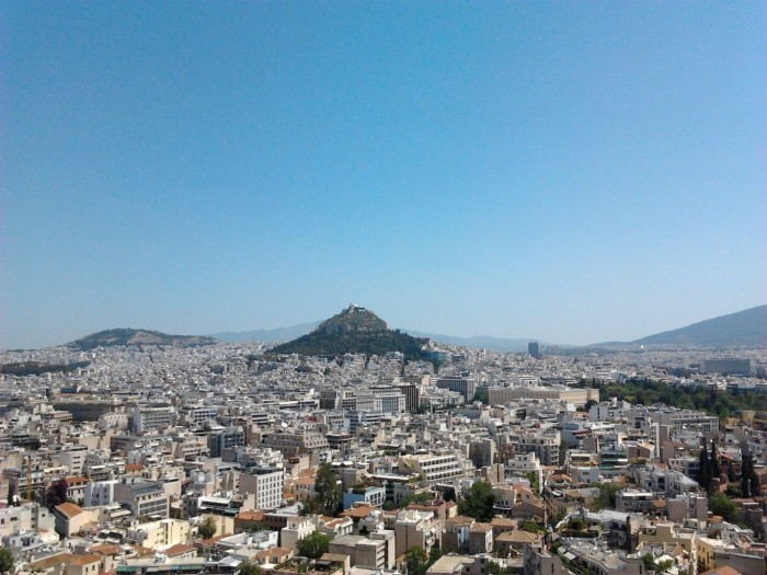 Great view from the Acropolis of Athens