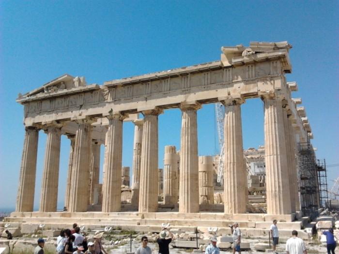 The Parthenon of the Acropolis of Athens
