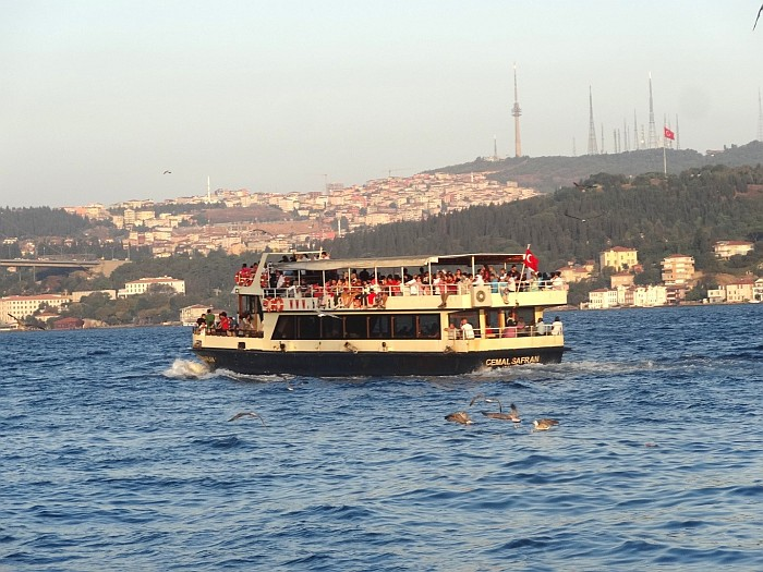 Boat going to the Asian part of Istanbul